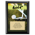 Golf Black Wood Plaque