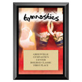 Gymnastics Award Plaque - Black