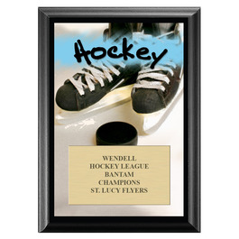 Hockey Award Plaque - Black