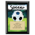 Soccer Award Plaque - Black