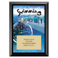 Swimming Award Plaque - Black