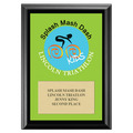 Full Color Custom Sports Award Plaque - Black