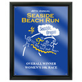 Full Color Sports Award Plaque - Black w/ Acrylic Overlay