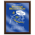 Full Color Sports Award Plaque - Cherry Finish w/ Acrylic Overlay