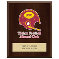 Custom Full Color Sports Award Plaque - Cherry Finish