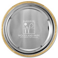 Round Sports Award Tray w/ Gold Border