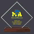 Custom Full Color Diamond Acrylic Award Trophy