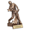 Male Baseball Superstar Resin Award Trophy