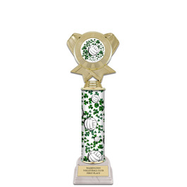 "12"" Design Your Own Sports Award Trophy w/ White HS Base"