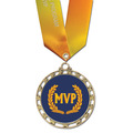 ST Star Medal w/ Specialty Satin Neck Ribbon
