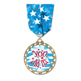 Star Medal w/ Multicolor Neck Ribbon