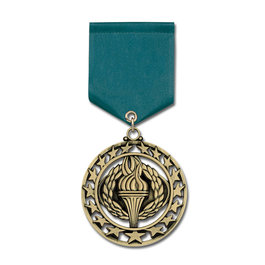 Star Medal w/ Satin Drape Ribbon