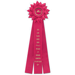 Sunburst Fair, Festival &amp; 4-H Rosette Award Ribbon
