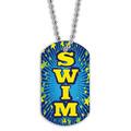 Full Color Swim Blue Dog Tag
