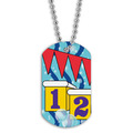 Full Color Swim Starting Blocks Dog Tag