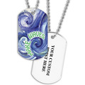 Personalized Swim Make Waves Dog Tag w/ Print on Back