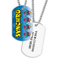 Personalized Swim Synchro Dog Tag w/ Print on Back