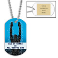 Personalized Swim All It Takes Dog Tag w/ Engraved Plate