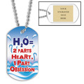 Personalized Swim H2O Dog Tag w/ Engraved Plate