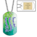 Personalized Swim Seven Days Dog Tag w/ Engraved Plate