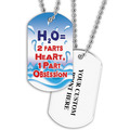 Personalized Swim H2O Dog Tag w/ Print on Back
