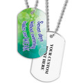 Personalized Swim Seven Days Dog Tag w/ Print on Back