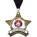 AS All Star Full Color Swim Award Medal w/ Grosgrain Neck Ribbon
