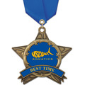 AS All Star Full Color Swim Award Medal w/ Satin Neck Ribbon