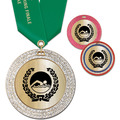 GEM Metallic Swim Award Medal w/ Satin Neck Ribbon