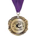 XBX Metallic Swim Medal w/ Any Grosgrain Neck Ribbon