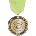 XBX Metallic Swim Medal w/ Any Satin Neck Ribbon