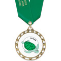 ST14 Star Full Color Swim Medal w/ Satin Neck Ribbon