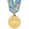 BL Swim Award Medal w/ Multicolor Neck Ribbon