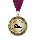 GFL Metallic Swim Award Medal w/ Grosgrain Neck Ribbon