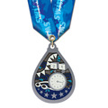 Superstar Swim Award Medal w/ Multicolor Neck Ribbon