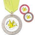 GEM Full Color Swim Award Medal w/ Satin Neck Ribbon