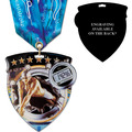 CSM Shield Award Medal w/ Any Multicolor Neck Ribbon - ENGRAVED