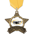 AS All Star Full Color Swimming Award Medal w/ Satin Neck Ribbon