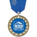 RS14 Full Color Swim Award Medal with Satin Neck Ribbon