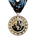 RS14 Metallic Swim Award Medal with Millennium Neck Ribbon