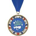 RSG Full Color Swim Award Medal with Grosgrain Neck Ribbon