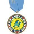 RSG Full Color Swim Award Medal with Satin Neck Ribbon