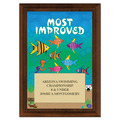 Most Improved Swimming Award Plaque - Cherry Finish