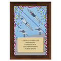 Swim Stars Award Plaque - Cherry Finish