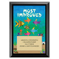 Most Improved Swim Award Wood Plaque - Black