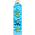 Multicolor Point Top Swimming Award Ribbon