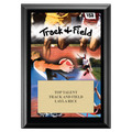 Track Black Wood Plaque