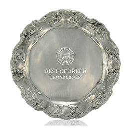 Gadroon Dog Show Award Tray
