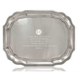 Pewtarex™ King George Large Dog Show Award Tray