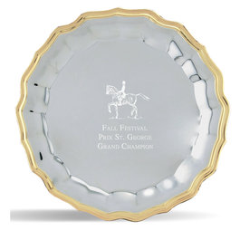Wave Horse Show Award Tray w/ Gold Border
